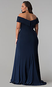 Image of long off-the-shoulder plus-size Faviana prom dress. Style: FA-9441 Detail Image 4