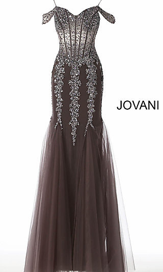 Long Sheer Mermaid-Style Prom Dress with Sequins