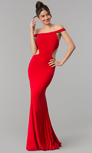 Open-Back Long Prom Dress