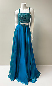 Image of long two-piece prom dress. Style: SH-51688 Front Image