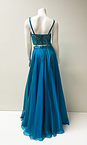 Image of long two-piece prom dress. Style: SH-51688 Back Image