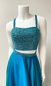 Image of long two-piece prom dress. Style: SH-51688 Detail Image 1