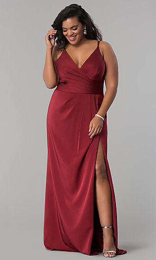 068a9d436c1 Red Plus-Size Cocktail and Prom Dresses - PromGirl