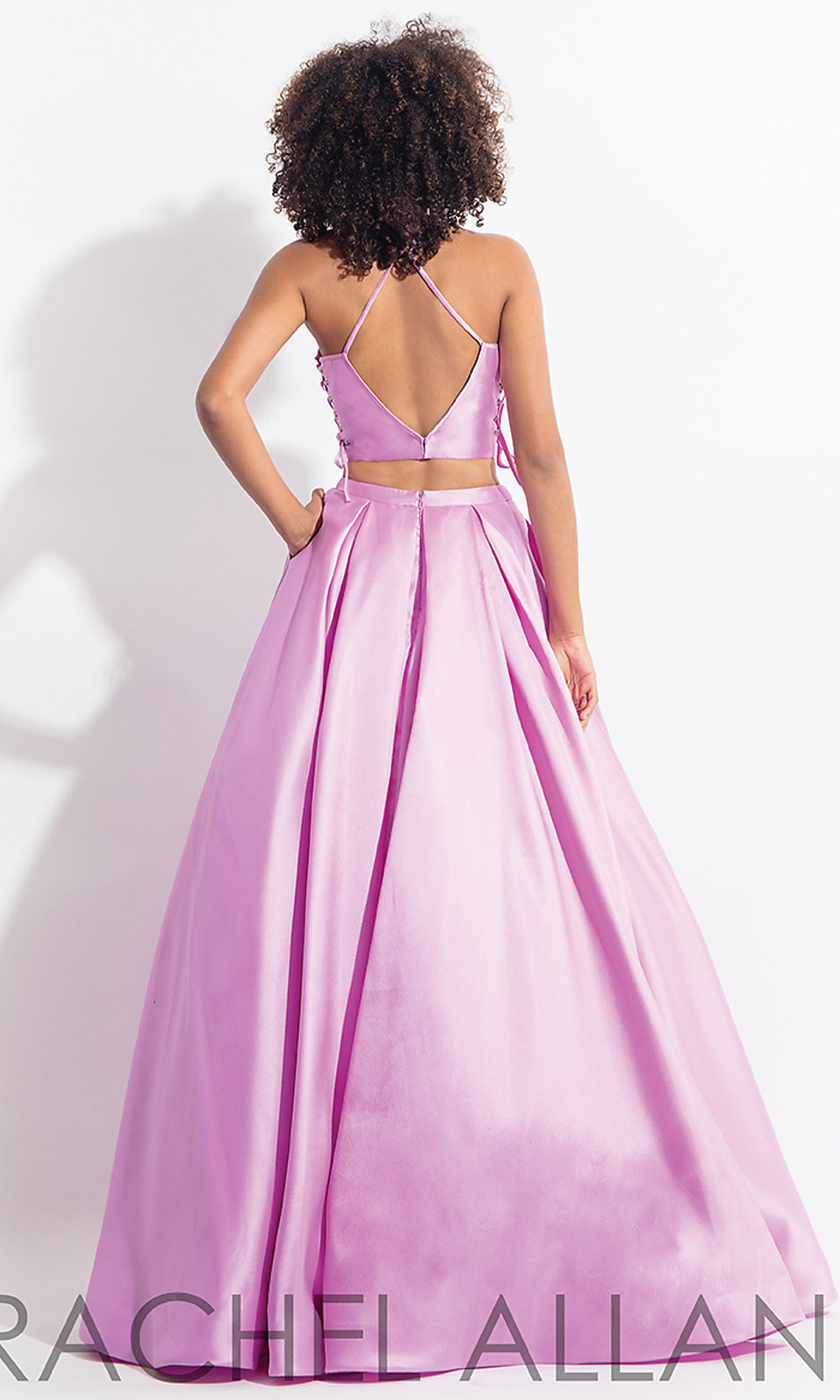 prom hair style ideas two prom dress with lace up sides 6040 | lilac dress PT RA 6040 b