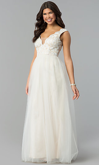 White And Ivory Reception Dresses