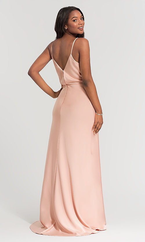 Image of Kleinfeld long bridesmaid dress with jewel accents. Style: KL-200020 Back Image