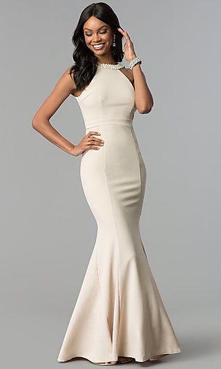 Nude Prom Dresses Beige Party Dresses Promgirl