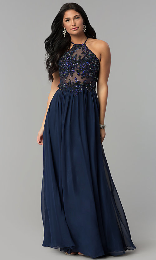 6dd9fbc2ca2 Image of embroidered-appliqued-bodice long prom dress. Style  NA-G096