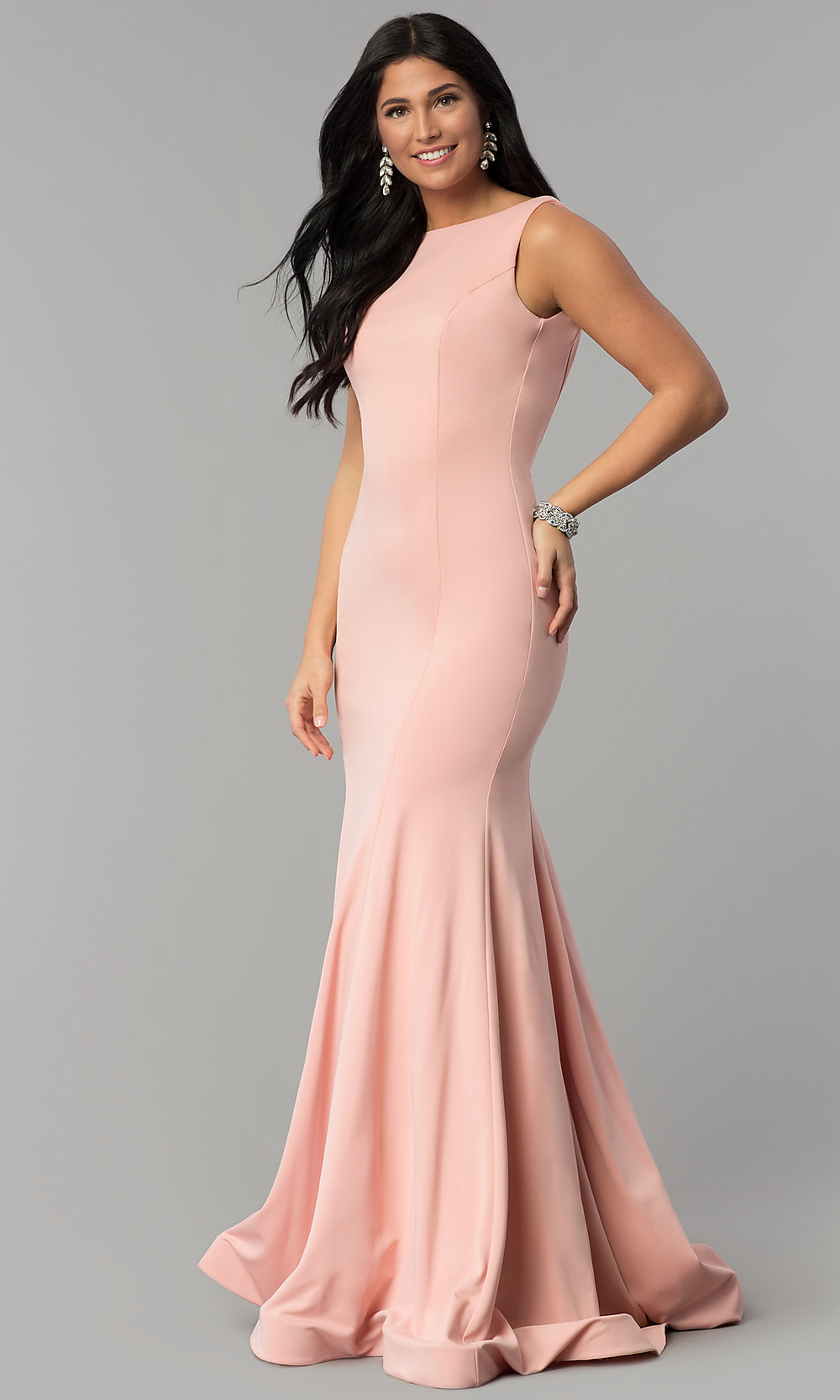 Mermaid Long Prom Dress with Godet Train - PromGirl