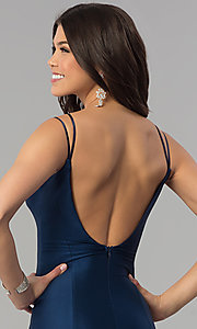 Image of notched sweetheart long prom dress with scoop back.  Style: MCR-2363 Detail Image 2