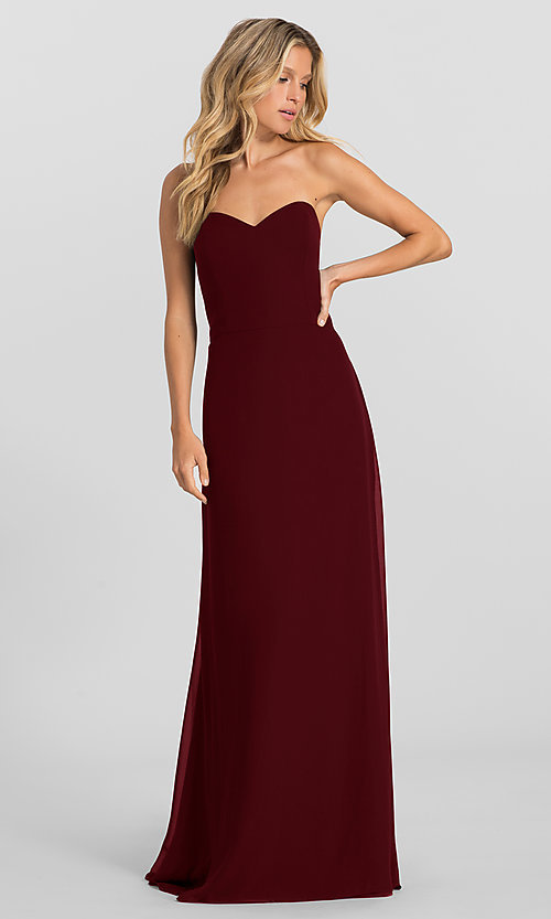 Image of strapless long formal dress with removable jacket. Style: HYP-5621 Detail Image 1