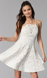Ivory Graduation Short Lace Dress