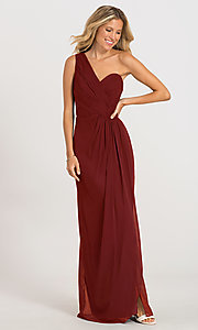 Image of one-shoulder Dessy Collection bridesmaid dress 2905. Style: DG-D-2905 Detail Image 7
