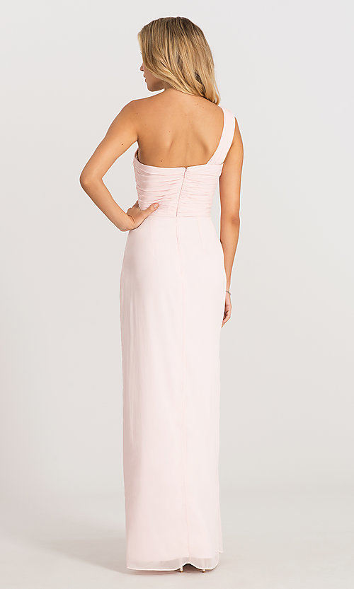 Image of one-shoulder Dessy Collection bridesmaid dress 2905. Style: DG-D-2905 Detail Image 4