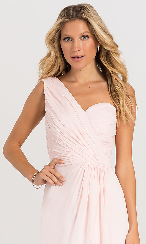 Image of one-shoulder Dessy Collection bridesmaid dress 2905. Style: DG-D-2905 Detail Image 5