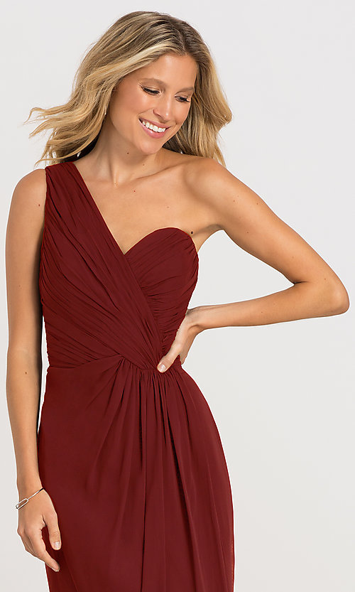 Image of one-shoulder Dessy Collection bridesmaid dress 2905. Style: DG-D-2905 Detail Image 8