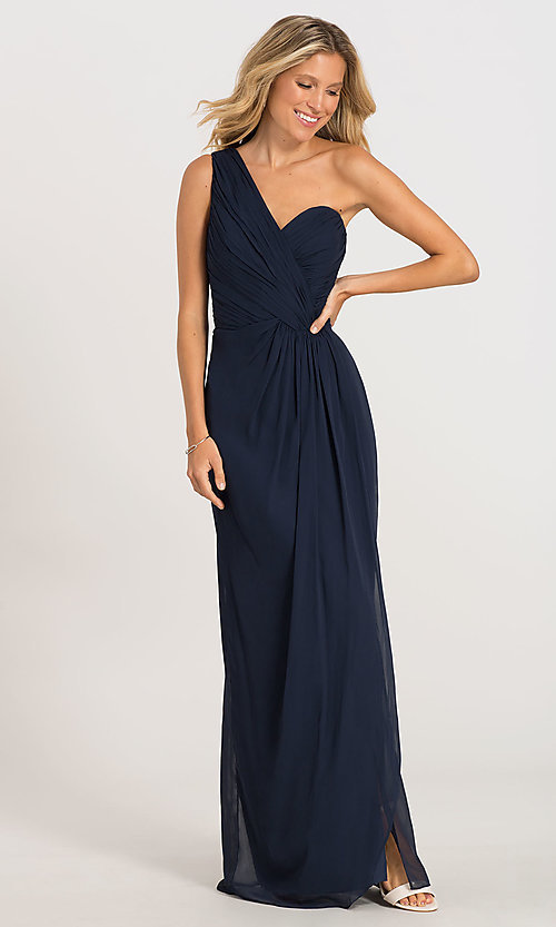 Image of one-shoulder Dessy Collection bridesmaid dress 2905. Style: DG-D-2905 Front Image