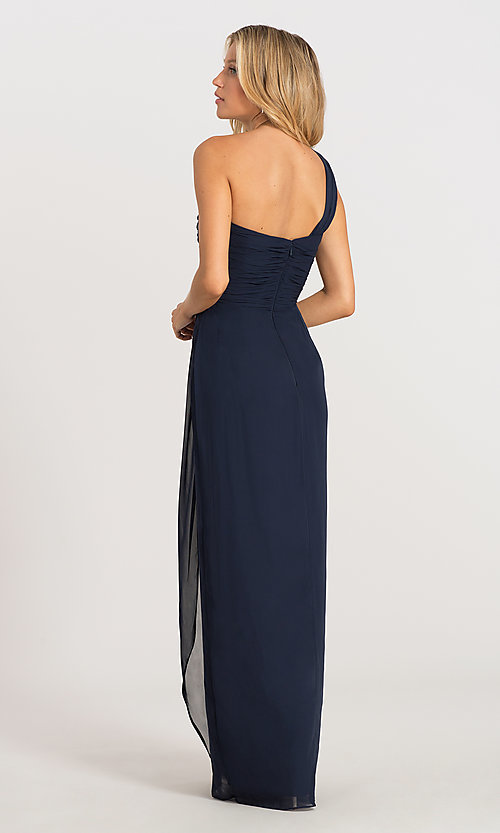 Image of one-shoulder Dessy Collection bridesmaid dress 2905. Style: DG-D-2905 Back Image