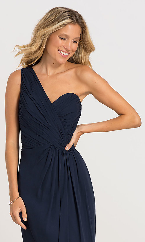 Image of one-shoulder Dessy Collection bridesmaid dress 2905. Style: DG-D-2905 Detail Image 1