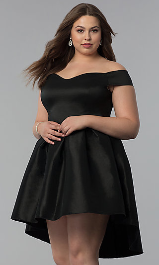 High-Low Semi-Formal Plus-Size Short Party Dress