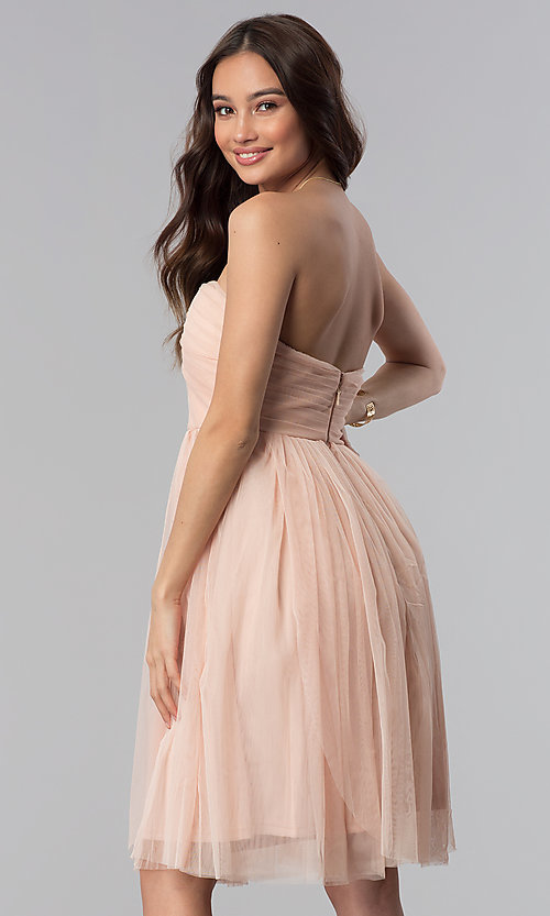Image of strapless sweetheart short graduation party dress. Style: SOI-D16107 Back Image