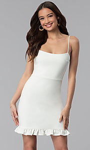 Short Day-to-Night White Graduation Party Dress