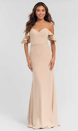 Off-the-Shoulder Long Kleinfeld Bridesmaid Dress