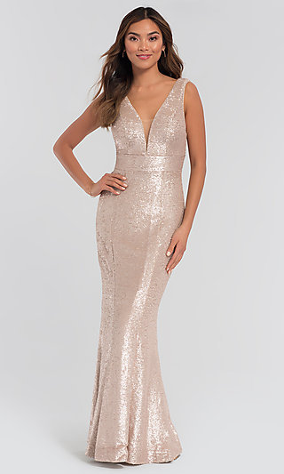 Sequin Long Bridesmaid Dress by Kleinfeld
