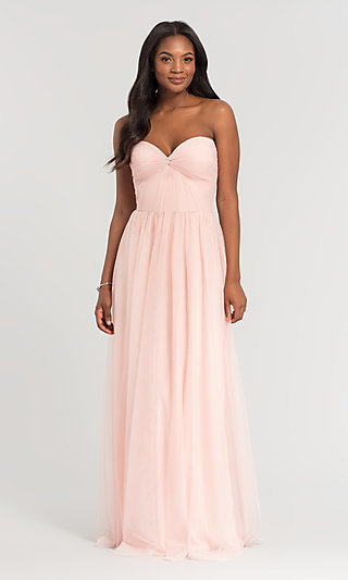 Kleinfeld Sweetheart Long Tulle Bridesmaid Dress