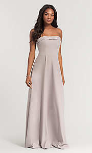 Image of Kleinfeld bridesmaid dress with removable straps. Style: KL-200024 Detail Image 1