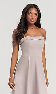 Image of Kleinfeld bridesmaid dress with removable straps. Style: KL-200024 Detail Image 2