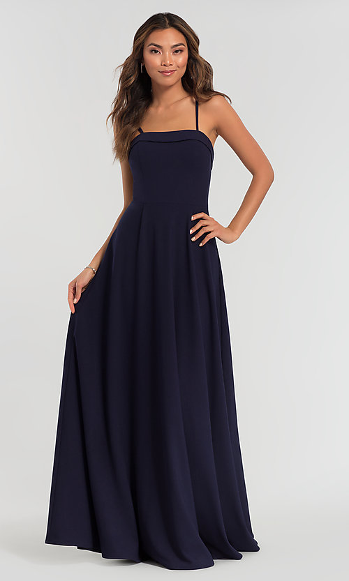 Image of Kleinfeld bridesmaid dress with removable straps. Style: KL-200024 Detail Image 3