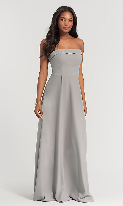 Image of Kleinfeld bridesmaid dress with removable straps. Style: KL-200024 Detail Image 4