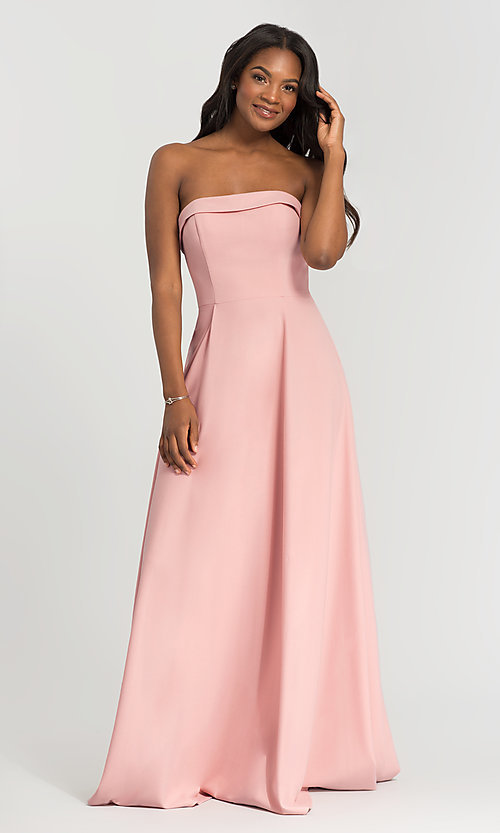 Image of Kleinfeld bridesmaid dress with removable straps. Style: KL-200024 Front Image