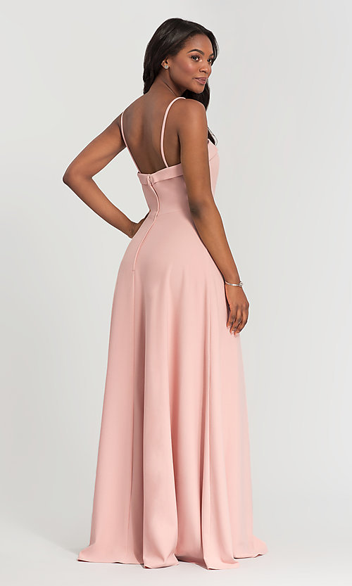 Image of Kleinfeld bridesmaid dress with removable straps. Style: KL-200024 Back Image