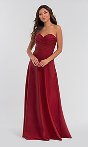 Image of long removable-straps Kleinfeld bridesmaid dress. Style: KL-200028 Detail Image 4