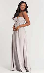 Image of long removable-straps Kleinfeld bridesmaid dress. Style: KL-200028 Detail Image 2