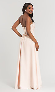 Image of long removable-straps Kleinfeld bridesmaid dress. Style: KL-200028 Back Image