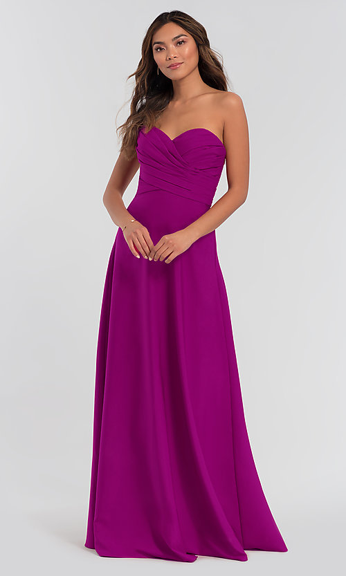 Image of long removable-straps Kleinfeld bridesmaid dress. Style: KL-200028 Detail Image 7