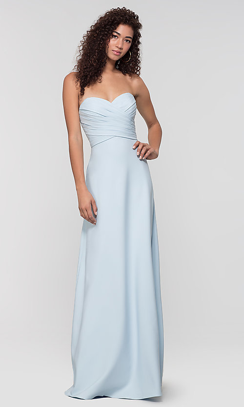 Image of long removable-straps Kleinfeld bridesmaid dress. Style: KL-200028 Detail Image 6