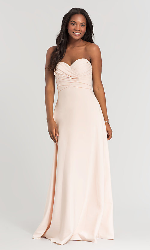 Image of long removable-straps Kleinfeld bridesmaid dress. Style: KL-200028 Front Image