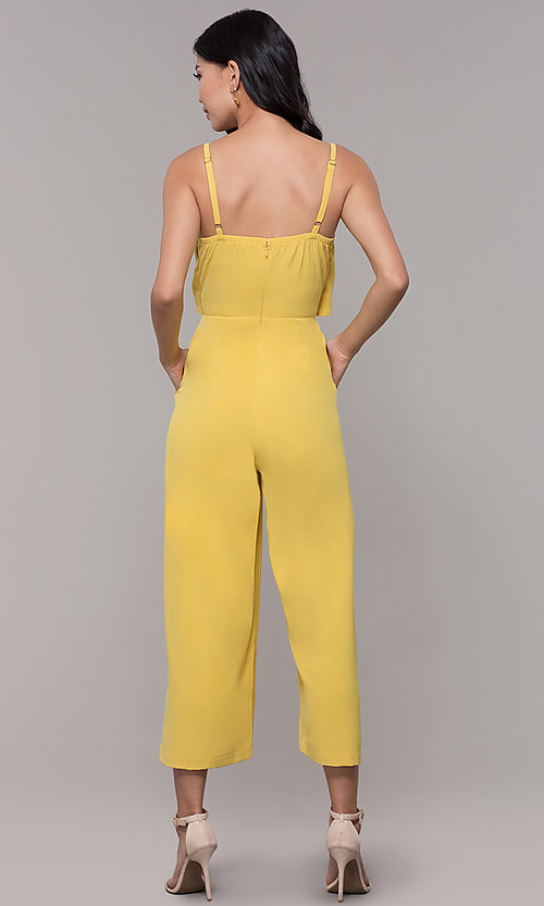 Image of graduation party cropped-leg v-neck jumpsuit. Style: MD-JS15809CP Detail Image 3