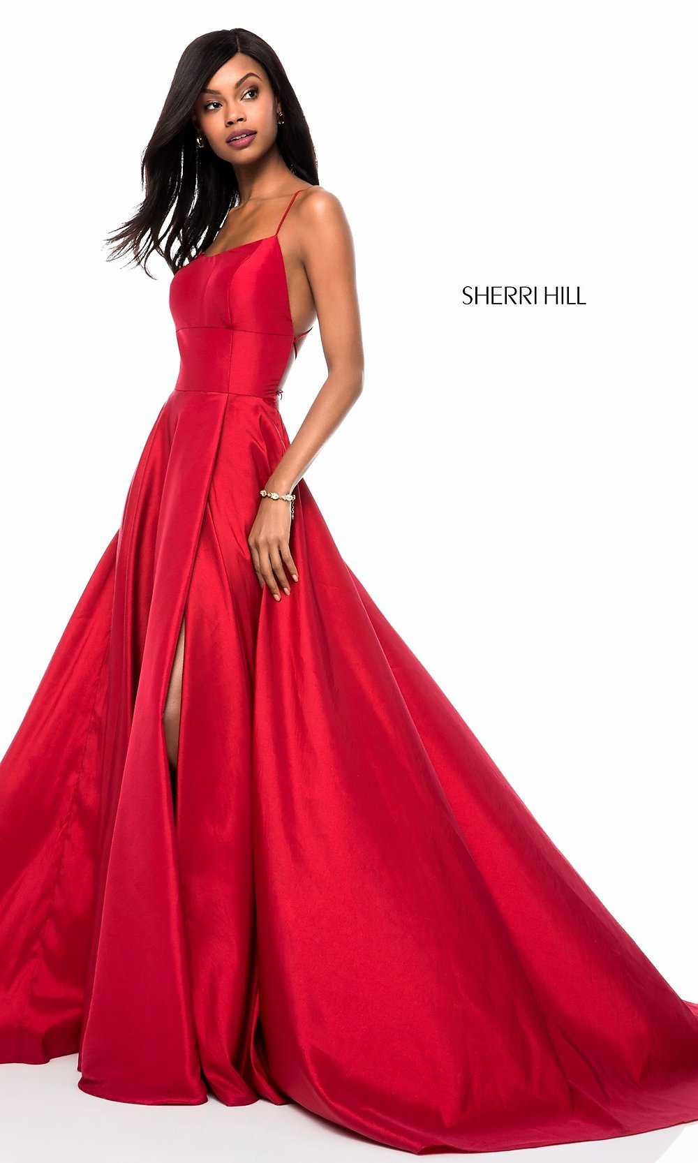 f49f095ecb Image of square-neck Sherri Hill prom dress with open back Style  SH-. Tap  to expand