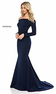 Mermaid-Style Off-the-Shoulder Prom Dress with Sleeves