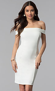 Off-the-Shoulder Princess-Cut Graduation Dress