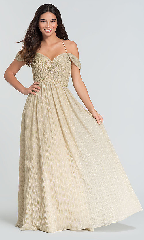 Image of glitter-knit Kleinfeld sweetheart bridesmaid dress. Style: KL-200098 Front Image