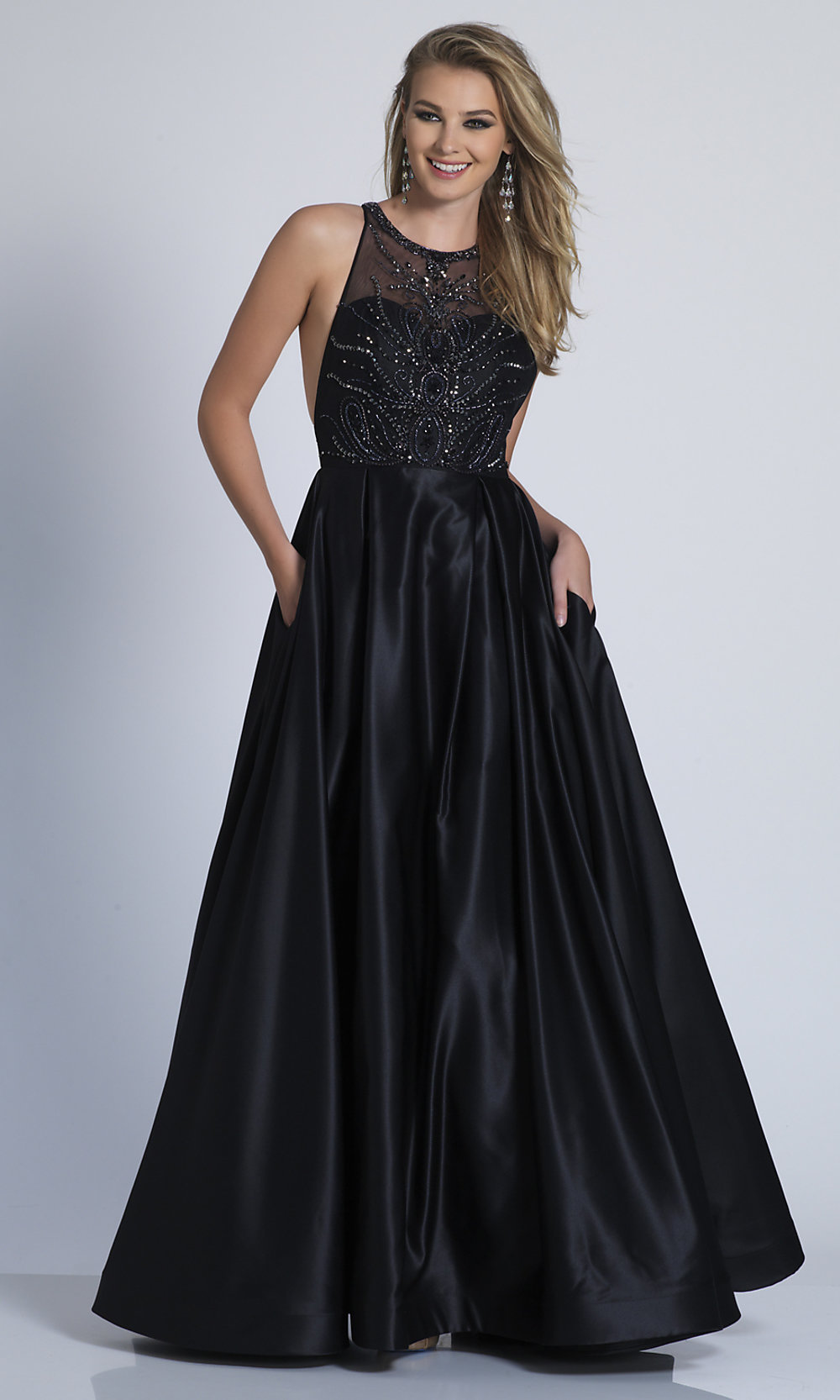 91633fe9154 Long A-Line Dave and Johnny Prom Dress