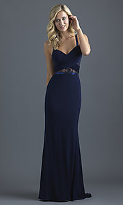 Long Open-Back Jersey Prom Dress with a Ruched Bust