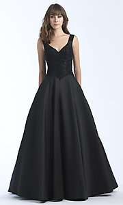 A-Line Prom Dress with Beading and Embroidery