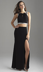 Image of Madison James two-piece long formal prom dress. Style: NM-18-675 Front Image